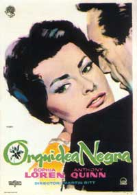 The Black Orchid - 11 x 17 Movie Poster - Spanish Style A