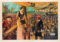 The Black Pirate - 11 x 17 Movie Poster - French Style A