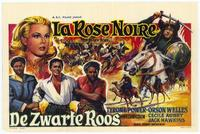 The Black Rose - 27 x 40 Movie Poster - Belgian Style A
