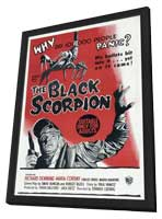 The Black Scorpion - 11 x 17 Movie Poster - Australian Style A - in Deluxe Wood Frame