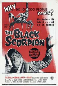 The Black Scorpion - 27 x 40 Movie Poster - Australian Style A