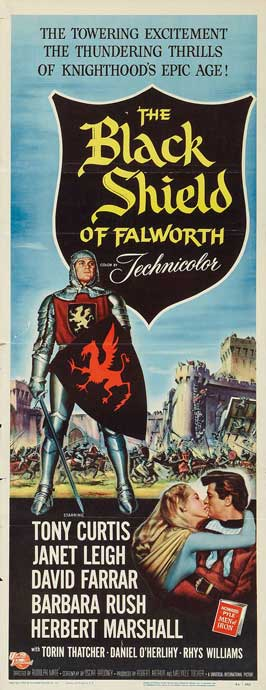 The Black Shield of Falworth - 14 x 36 Movie Poster - Insert Style A
