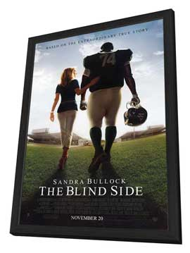 The Blind Side - 27 x 40 Movie Poster - Style A - in Deluxe Wood Frame
