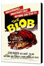 The Blob - 27 x 40 Movie Poster - Style A - Museum Wrapped Canvas
