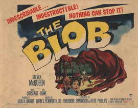 The Blob - 22 x 28 Movie Poster - Half Sheet Style A