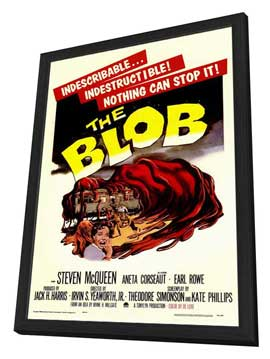 The Blob - 11 x 17 Movie Poster - Style A - in Deluxe Wood Frame