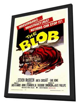 The Blob - 27 x 40 Movie Poster - Style A - in Deluxe Wood Frame