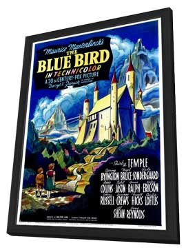 The Blue Bird - 27 x 40 Movie Poster - Style A - in Deluxe Wood Frame