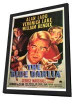 The Blue Dahlia - 27 x 40 Movie Poster - Style A - in Deluxe Wood Frame