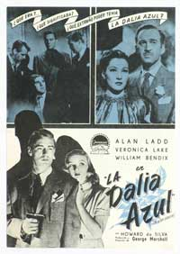 The Blue Dahlia - 11 x 17 Movie Poster - Spanish Style A