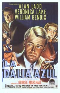 The Blue Dahlia - 27 x 40 Movie Poster - Spanish Style B