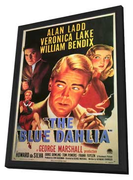 The Blue Dahlia - 11 x 17 Movie Poster - Style A - in Deluxe Wood Frame