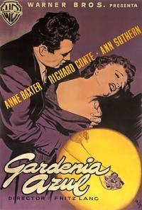 The Blue Gardenia - 11 x 17 Movie Poster - Spanish Style B