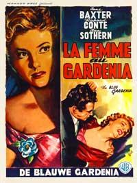 The Blue Gardenia - 11 x 17 Movie Poster - Belgian Style A