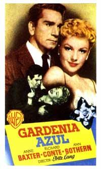 The Blue Gardenia - 27 x 40 Movie Poster - Spanish Style A