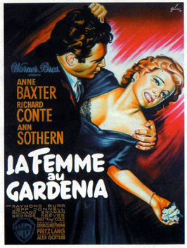 The Blue Gardenia - 11 x 17 Movie Poster - French Style A