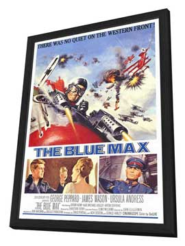 The Blue Max - 27 x 40 Movie Poster - Style A - in Deluxe Wood Frame