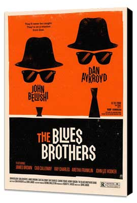 The Blues Brothers - 11 x 17 Movie Poster - Style L - Museum Wrapped Canvas