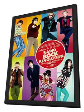 The Boat That Rocked - 27 x 40 Movie Poster - German Style A - in Deluxe Wood Frame