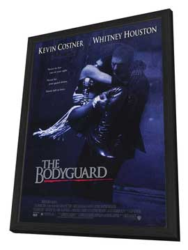 The Bodyguard - 27 x 40 Movie Poster - Style A - in Deluxe Wood Frame