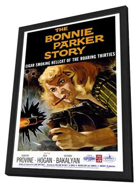 The Bonnie Parker Story - 27 x 40 Movie Poster - Style A - in Deluxe Wood Frame