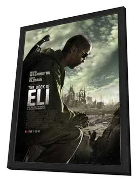 The Book of Eli - 27 x 40 Movie Poster - Style A - in Deluxe Wood Frame
