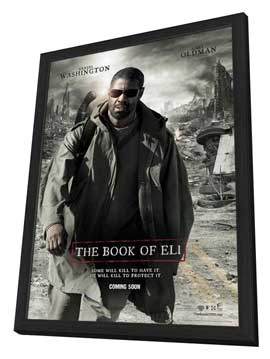 The Book of Eli - 27 x 40 Movie Poster - Style E - in Deluxe Wood Frame