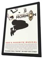 The Book of Mormon (Broadway) - 14 x 22 Poster - Heavy Stock - in Deluxe Wood Frame