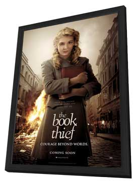 The Book Thief - 11 x 17 Movie Poster - UK Style A - in Deluxe Wood Frame