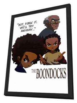 The Boondocks - 11 x 17 TV Poster - Style A - in Deluxe Wood Frame