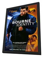 The Bourne Identity - 11 x 17 Movie Poster - Style B - in Deluxe Wood Frame