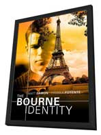 The Bourne Identity - 27 x 40 Movie Poster - Style D - in Deluxe Wood Frame