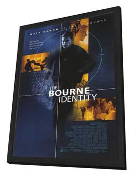 The Bourne Identity - 11 x 17 Movie Poster - Style A - in Deluxe Wood Frame