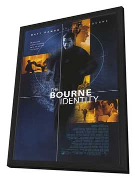 The Bourne Identity - 27 x 40 Movie Poster - Style A - in Deluxe Wood Frame