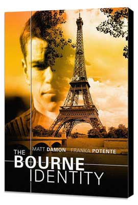 The Bourne Identity - 11 x 17 Movie Poster - Style E - Museum Wrapped Canvas
