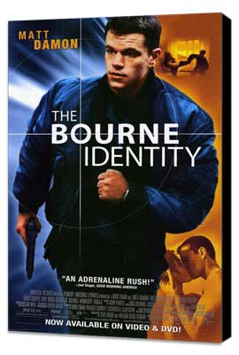 The Bourne Identity - 27 x 40 Movie Poster - Style B - Museum Wrapped Canvas