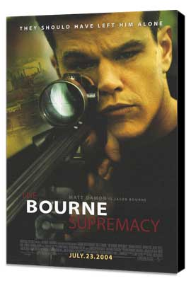 The Bourne Supremacy - 11 x 17 Movie Poster - Style B - Museum Wrapped Canvas
