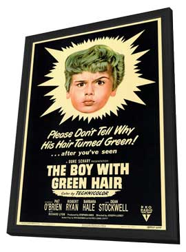 The Boy with the Green Hair - 11 x 17 Movie Poster - Style A - in Deluxe Wood Frame
