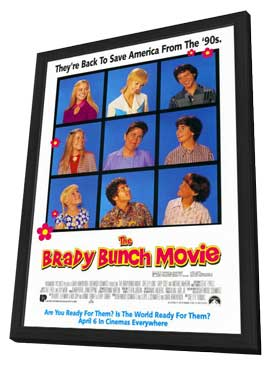 The Brady Bunch Movie - 11 x 17 Movie Poster - Style B - in Deluxe Wood Frame