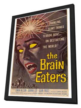 The Brain Eaters - 27 x 40 Movie Poster - Style A - in Deluxe Wood Frame