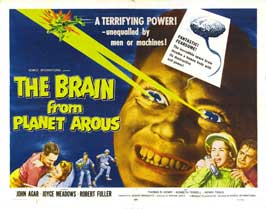 The Brain from Planet Arous - 22 x 28 Movie Poster - Half Sheet Style A