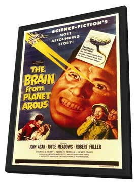 The Brain from Planet Arous - 11 x 17 Movie Poster - Style A - in Deluxe Wood Frame