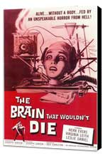 The Brain that Wouldn't Die - 11 x 17 Movie Poster - Style A - Museum Wrapped Canvas