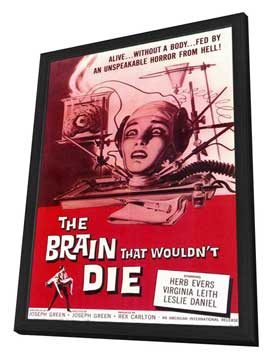 The Brain that Wouldn't Die - 11 x 17 Movie Poster - Style A - in Deluxe Wood Frame