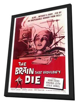 The Brain that Wouldn't Die - 27 x 40 Movie Poster - Style A - in Deluxe Wood Frame