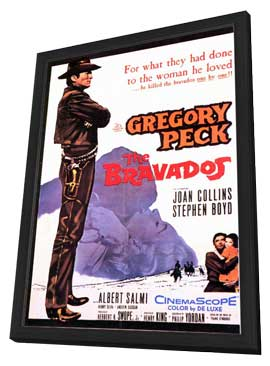 The Bravados - 11 x 17 Movie Poster - Style A - in Deluxe Wood Frame