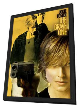 The Brave One - 11 x 17 Movie Poster - Style B - in Deluxe Wood Frame