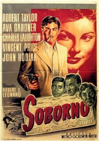 The Bribe - 11 x 17 Movie Poster - Spanish Style A