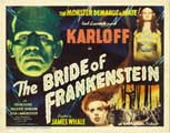 The Bride of Frankenstein - 30 x 40 Movie Poster - Style B