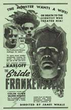 The Bride of Frankenstein - 43 x 62 Movie Poster - Bus Shelter Style C